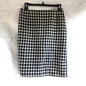 Designed by Soo Gingham Miniskirt